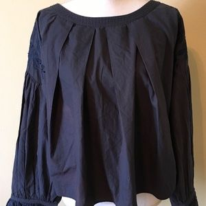 Free People Long Sleeves Blouse Blue Size S